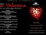 San Valentino Domenica 14 febbraio 2016 – Cena Romantica 30 € Bere illimitato Milano Posted on 30 gennaio 2016 Antipasto INSALATA DEL RE E DONNA DI CUORI (insalatina verde,con cuore di palma,pannocchielle di mais,avogado, punte di asparagi e bresaola) INSALATA DEL GOVERNO (insalatina verde con gamberetti ,avocado,cuore di palma,pomodorini e punte di asparagi) primi LINGUINE CON GAMBERI E RUCOLA CONDITI AL TARTUFO LINGUINE CON STRACCETTI DI CINGHIALE SU PASSATE DI VERDURE AL TARTUFO la scelta del piatto verrà accompagnato da un assaggio di risotto alle fragole secondi ASTICE AL GRATEN con patata al cartoccio e radicchio rosso. TAGLIATA AL ROSMARINO con patate al forno. dolce crostata di fragole Menu Bimbo fino ai 7 anni 10 € con bibita Pasta in Bianco o con ragu',cotoletta di carne con patatine fritte. Per info e prenotazioni tel 3397468551 Imperial Music Restaurant Quinto Stampi Milano via monte amiata 20